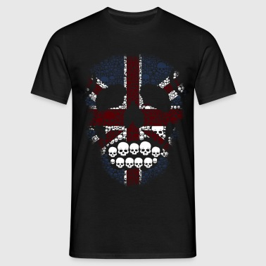 The British Skull Stencil - Men's T-Shirt