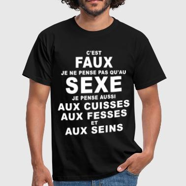 Seins sexe humour - T-shirt Homme