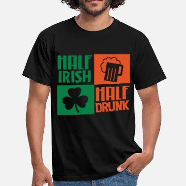 Ireland Geek Half Irish Half Drunk - Men's T-Shirt