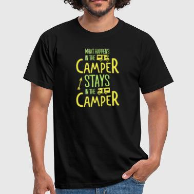 Camping Sjov what happens in the camper... - Herre-T-shirt