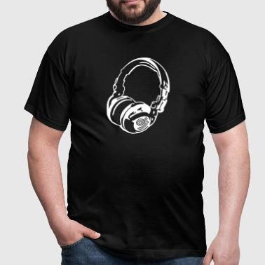 DJ Headphones for Dark Shirts - Männer T-Shirt