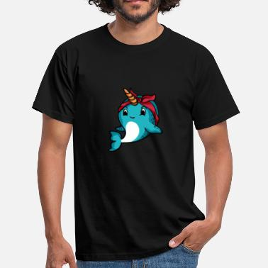 Whale Narwhal Bandana T-Shirt Drôle Narwhale Humour De Mer - T-shirt Homme