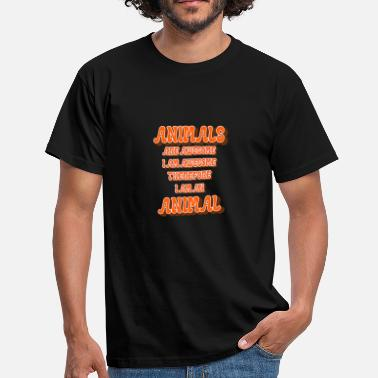 Soccer Am Animals Are Awesome, I Am Awesome, Funny Animal - Men's T-Shirt