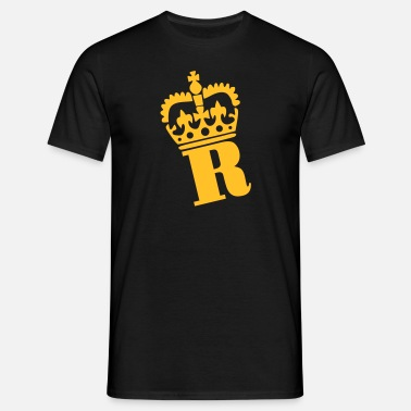 R Crown R - Letter - Name - Men's T-Shirt
