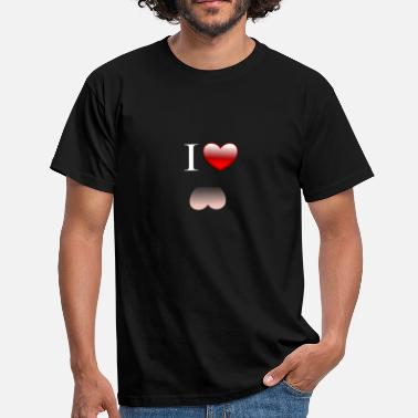 Hidden Message I Love Ass - Men's T-Shirt