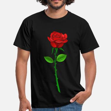 Red Rose Rose mit Stil - Men's T-Shirt