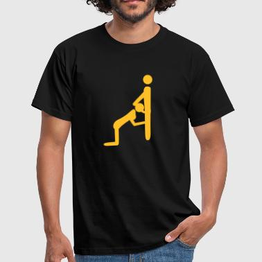 Figure Stick People Oral Sex - Men's T-Shirt