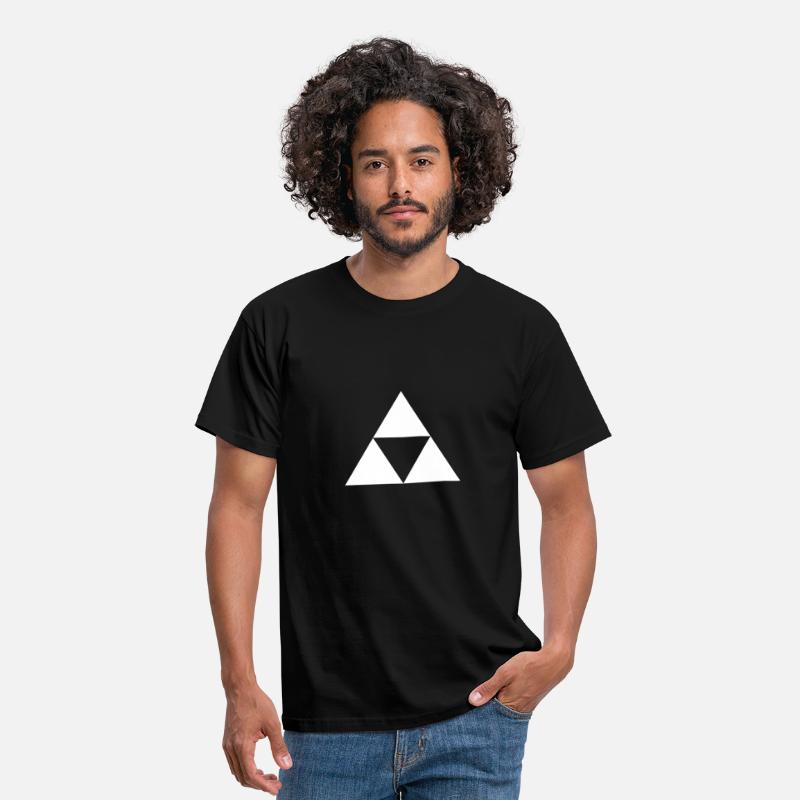 Triforce T-Shirts - Triforce Blanche - Men's T-Shirt black