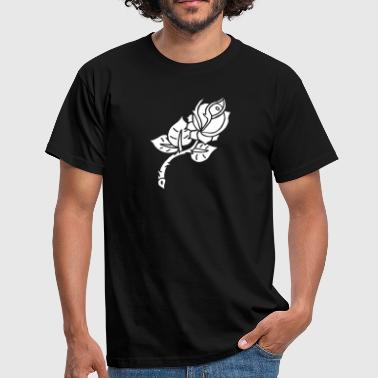 Rose Tattoo Rose Flower Blume Tattoo Oldschool Love Liebe - T-shirt Homme