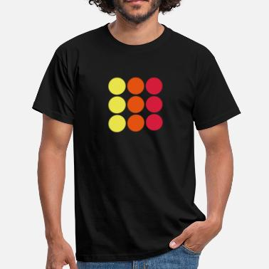 Illustration dots - Punkte - Männer T-Shirt