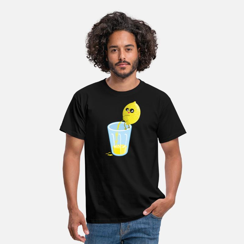 Divertidas Camisetas - Lemon pees lemonade - Camiseta hombre negro