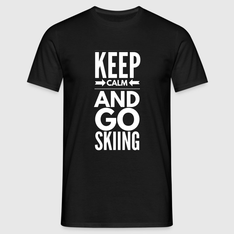 KEEP CALM AND GO SKIING - Camiseta hombre