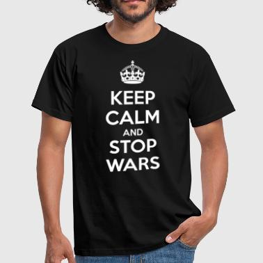 Keep Calm and Stop Wars (dark) - Men's T-Shirt