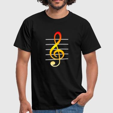 Music Treble Clef - Men's T-Shirt