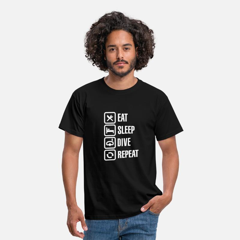 Dive T-Shirts - Eat Sleep Dive Repeat - Men's T-Shirt black
