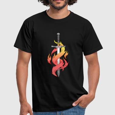 Sword and fire - Men's T-Shirt