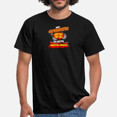 Responsable Marketing cadeau Superhero drôle Responsable Marketing Métier - T-shirt Homme