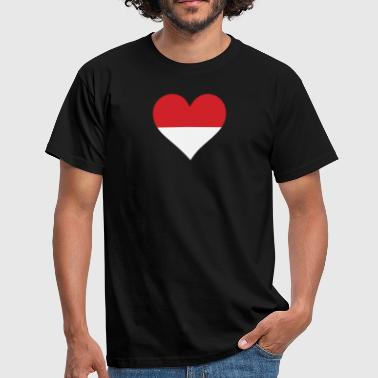 Sepak Takraw A Heart For Indonesia - Men's T-Shirt