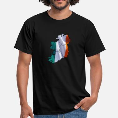 Map Ireland flag mapped - Men's T-Shirt