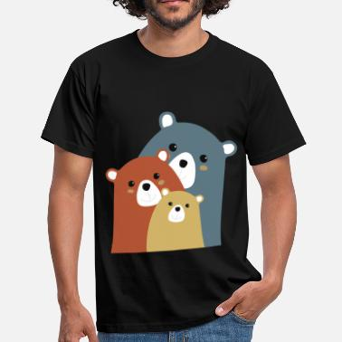 Bears-family family bears - Men's T-Shirt