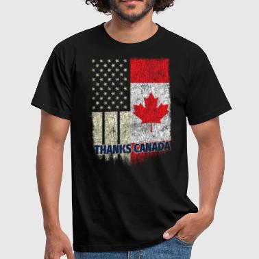 Canadian Takk Canada Canadian American Shirt USA Canada Friendship - T-skjorte for menn