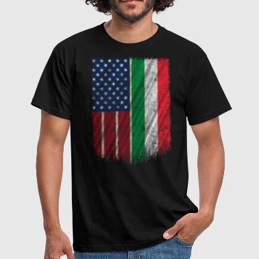 Root Italian American T Shirt Italian American Flag 4th Of July - Men's T-Shirt