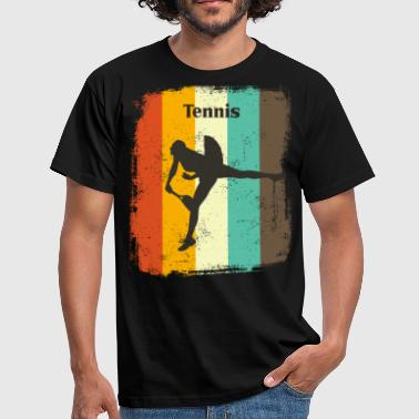70s Retro Style Tennis Player Retro 70s Vintage Women's Tennis Gift - Men's T-Shirt