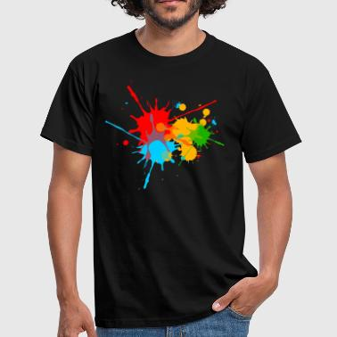 Éclaboussures éclaboussures couleur, splash, color, taches - T-shirt Homme