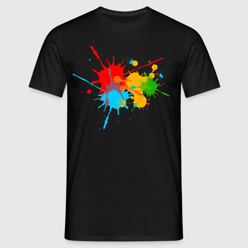 Ink, Paint, Color, Splashes, Splatter, Colour, Fun - Men's T-Shirt