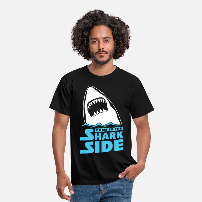 Boat T-Shirts - Come To The Shark Side - Men's T-Shirt black