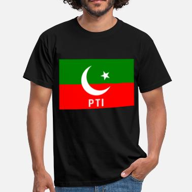 Pakistan Funny Pakistan PTI Party Flag - Men's T-Shirt