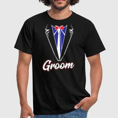 Eleganz Groom Bachelor Party Design - T-skjorte for menn