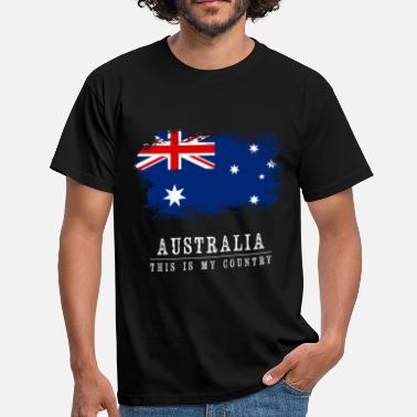 Australia AUSTRALIA - THIS IS MY COUNTRY - Men's T-Shirt