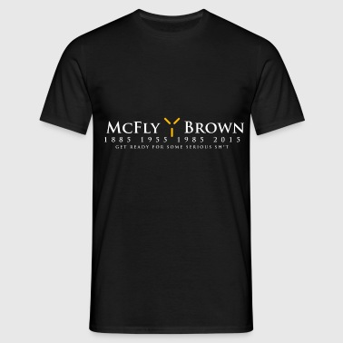 McFly / Brown  Election Design - Men's T-Shirt