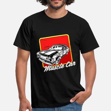 Muscle Car Sport Lovers Lydmotor w Usedlook - T-shirt mænd