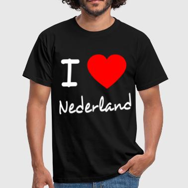 I LOVE THE NETHERLANDS - Men's T-Shirt