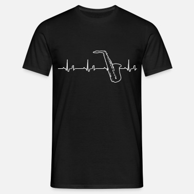 Heartbeat - saxophone - Men's T-Shirt
