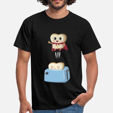 Comic Superheld Toastbrot - Männer T-Shirt