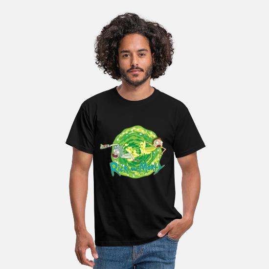 Tv T-Shirts - Rick And Morty Multidimensionale Reisen - Männer T-Shirt Schwarz