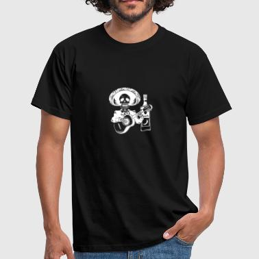 Mariachi Skeleton With Tequila Dia De Los Muertos - Men's T-Shirt