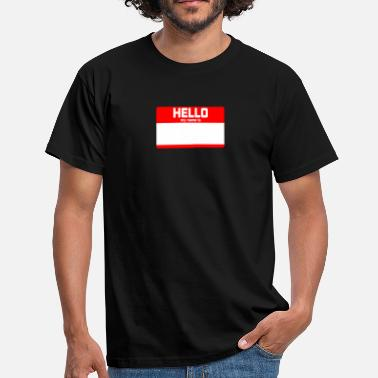 My Name Is Awesome HELLO MY NAME IS ... - Men's T-Shirt