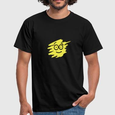 Gul Smiley Smiley - Herre-T-shirt