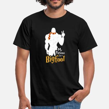 Patronus My patronus is a bigfoot with spell scarf - Men's T-Shirt