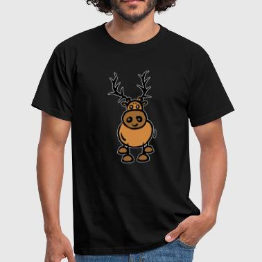 Elche Cartoon Comic Cartoon Elch Rentier Skandinavien - Männer T-Shirt