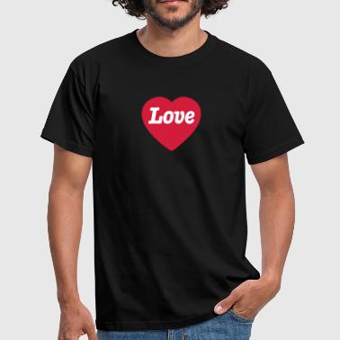 Love Kärlek Liebe Amor Heart with Love - Mannen T-shirt