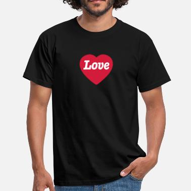 Love With Heart Heart with Love - Mannen T-shirt