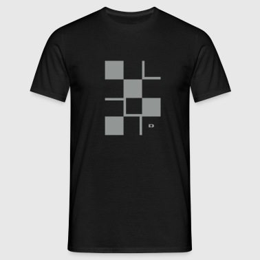 A-159 Squares and lines - Männer T-Shirt