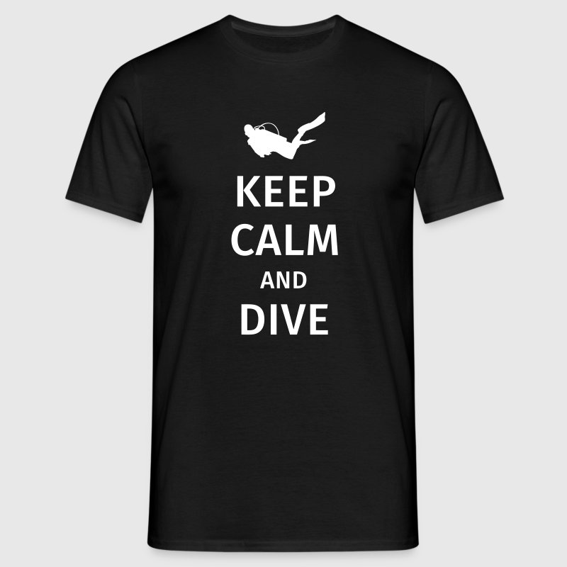 keep calm and dive - Koszulka męska