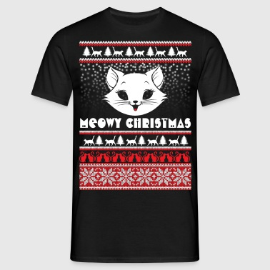 Meowy Christmas Ugly Tshirts - Men's T-Shirt