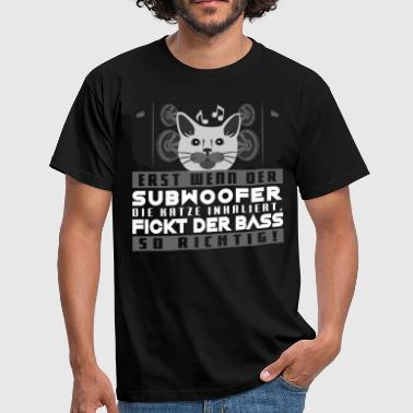 Bass love subwoofer cat hardstyle hardbass - Camiseta hombre